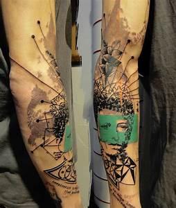 Tattoos Die Sich Ergänzen : photoshop aus der nadel die tattoos von xoil loic lavenu alias xoil ist tattoo k nstler in ~ Frokenaadalensverden.com Haus und Dekorationen