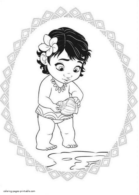 girl coloring pages moana coloring pages printablecom