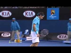 Roger Federer - Cross court backhand - YouTube
