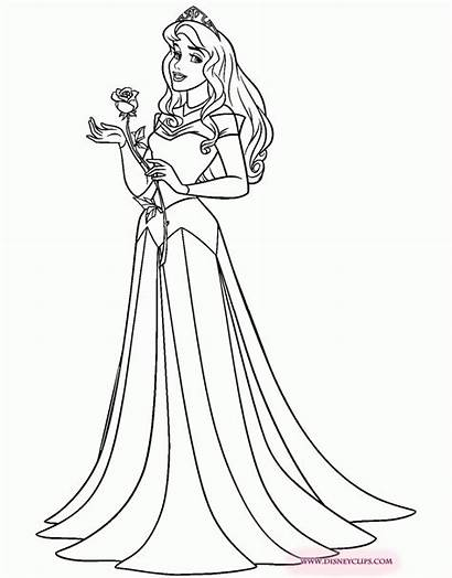 Aurora Princess Drawing Sleeping Beauty Coloring Pages