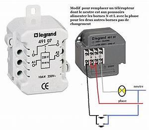 Schema Telerupteur Legrand : remplacer un telerupteur legrand 49107 par un 49120 ~ Dode.kayakingforconservation.com Idées de Décoration