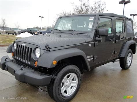 jeep dark gray 2010 dark charcoal pearl jeep wrangler unlimited sport 4x4