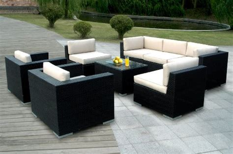 ohana outdoor patio wicker furniture 8pcs all weather