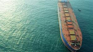 Aerial View PortMiami Loaded Container Cargo Vessel ...