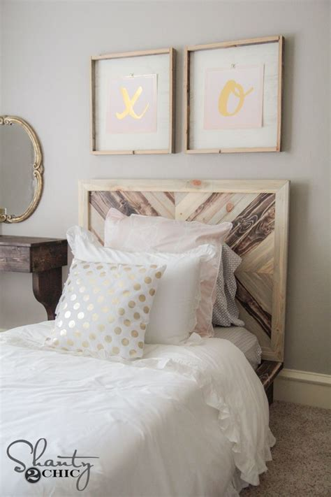 diy twin platform chevron bed shantys tutorials