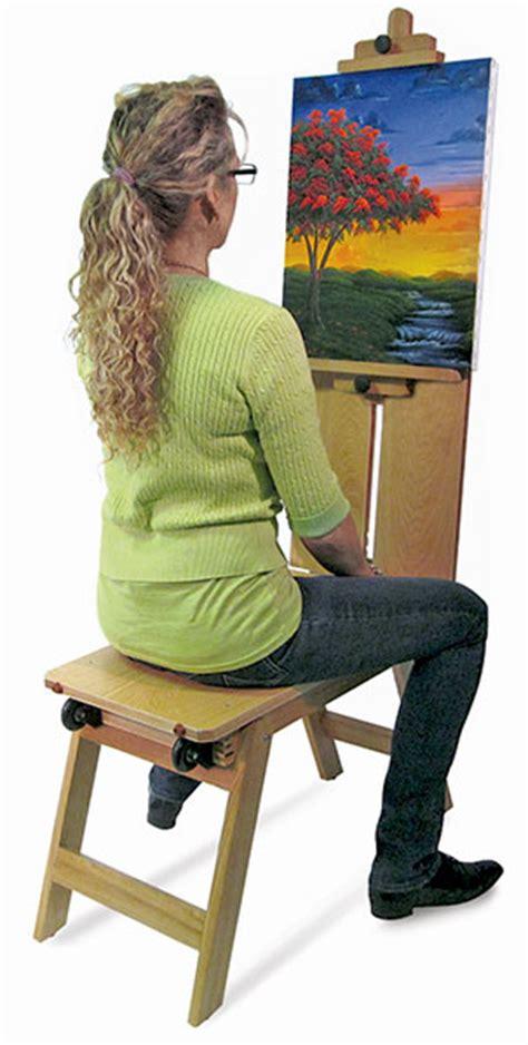 martin universal design wood mobile bench easel blick