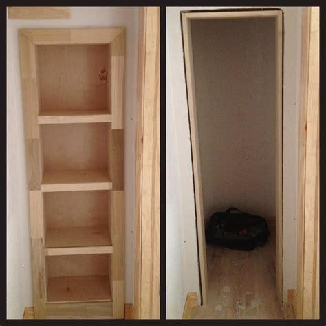 diy bookcase closet door secret gun room behind bookcase door stashvault