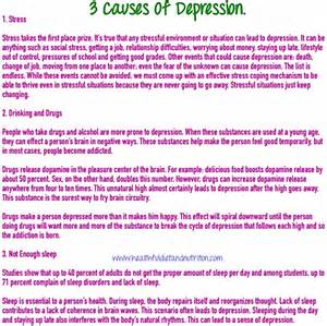 Causes Of Depression - Healthful Diet And Nutrition  Depression Dietary Fats