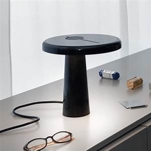 Lampe A Poser Noire : lampe poser hoop noire martinelli d couvrez luminaires d 39 int rieur jeancel luminaires ~ Teatrodelosmanantiales.com Idées de Décoration