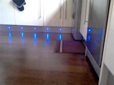 Led plinth lights in kitchen   YouTube