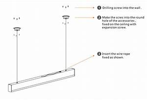 Led linear light pendant mounted and ceiling