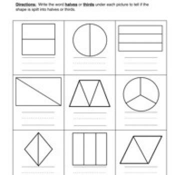 Math Worksheets Halves And Quarters  Download Them And Try To Solve