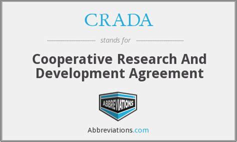 crada cooperative research  development agreement