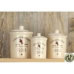 western kitchen canister sets western decor and fashion on pinterest