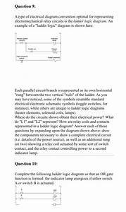 Solved  Question 9  A Type Of Electrical Diagram Conventio