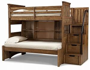 classic wooden unfinished bunk beds with stairs hidden With 3 best ideas for bedroom storage furniture