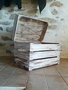 Peinture Bois Effet Vieilli Gris : 1000 images about vente de mes cr ations en palette et caisse a pomme on pinterest facebook ~ Voncanada.com Idées de Décoration