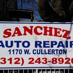 sanchez auto service auto repair   cullerton st
