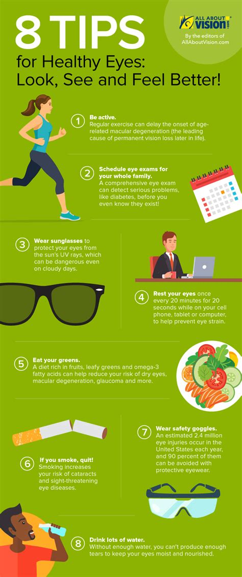 Infographic 8 Tips For Healthier Eyes This Year