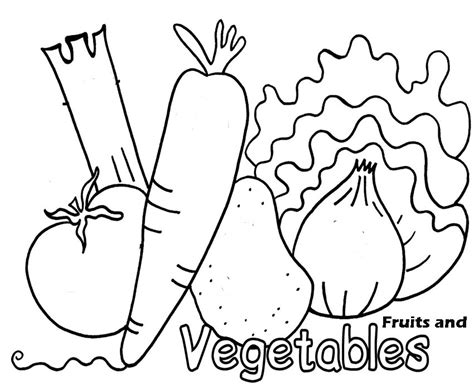 coloring pages  fresh fruit  vegetables team colors