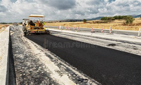 Road Construction stock photo. Image of compactor, heavy ...