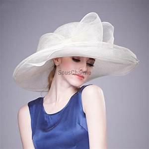 Chapeau Anglais Femme Mariage : chapeau mariage grand chapeau femme c r monie capeline ivoire l gant en lin noeud boucles ~ Maxctalentgroup.com Avis de Voitures