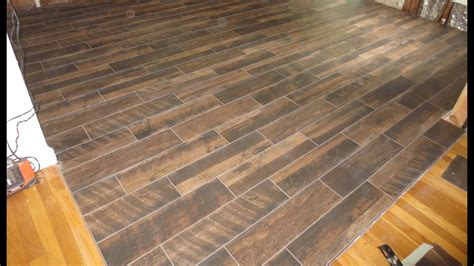 wood  plank tile installation time lapse  schluter