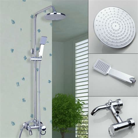 Shower Faucet Sets by Bathroom 8 Quot Rainfall Shower Faucet Set Chrome Mixer