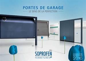 soprofen rassemble son expertise dans un nouveau catalogue With catalogue porte de garage