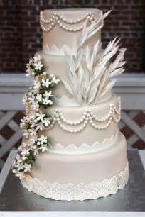 mariage gatsby four tier satin wedding cake decorated in style 2038675 weddbook