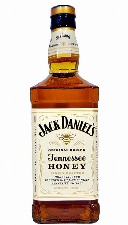 Daniels Jack Bottle Honey Label Tennessee Transparent