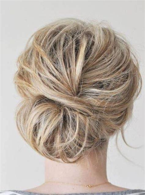 loose simple updos for medium hair by jaclyn hair