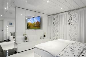 Raumteiler Mit Tv : schicke tv wand als raumteiler mit drehbarem tv ger t tv wall by luxframes die tv wand aus ~ Yasmunasinghe.com Haus und Dekorationen