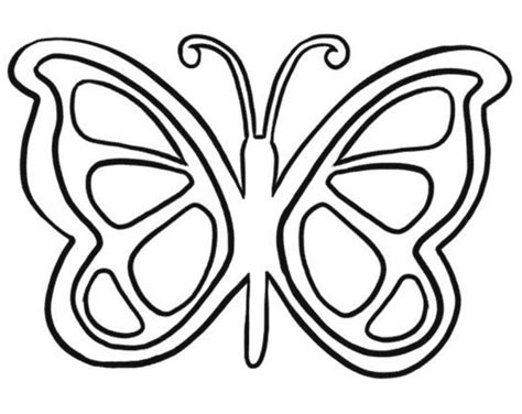 Graphic Coloring Pages Art Butterfly