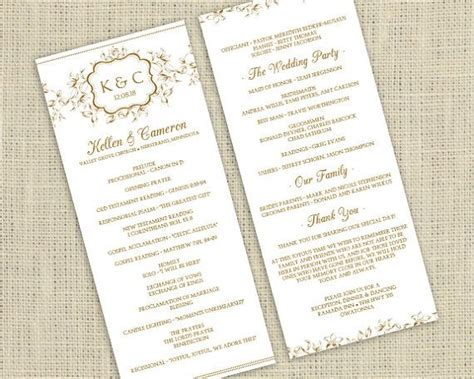 etsy wedding program template best photos of downloadable program templates wedding free downloadable wedding program