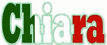 Glitter Flag Chiara Text Italian Names Graphics