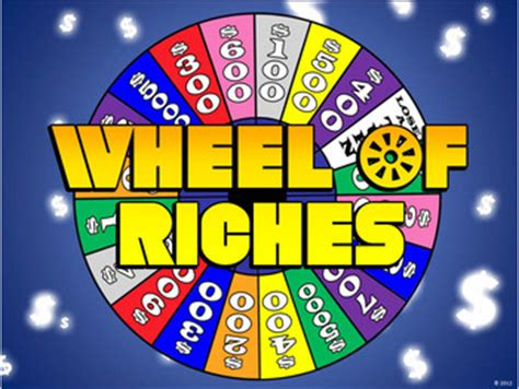 wheel  riches powerpoint template plays