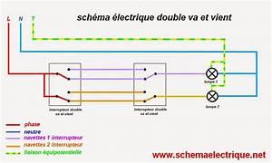 Eclairage Sans Branchement Electrique : schema electrique interrupteur va et vient double van et nina ~ Melissatoandfro.com Idées de Décoration