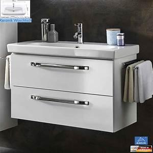 Waschtisch Mit Spiegelschrank 80 Cm : marlin 3060 waschtisch set 85 cm keramik impulsbad ~ Markanthonyermac.com Haus und Dekorationen