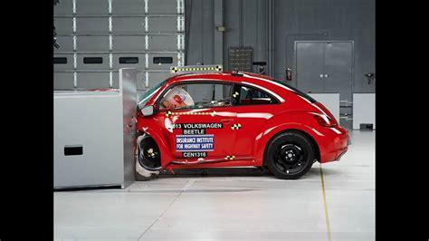 Crash Test by 2013 Volkswagen Beetle Driver Side Small Overlap Iihs