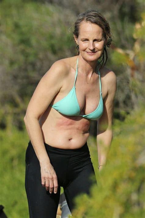 helen hunt  bikini top surfing  hawaii gotceleb