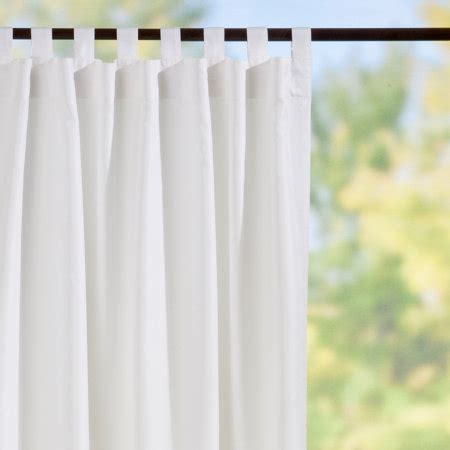 tab top semi opaque outdoor curtain panels white