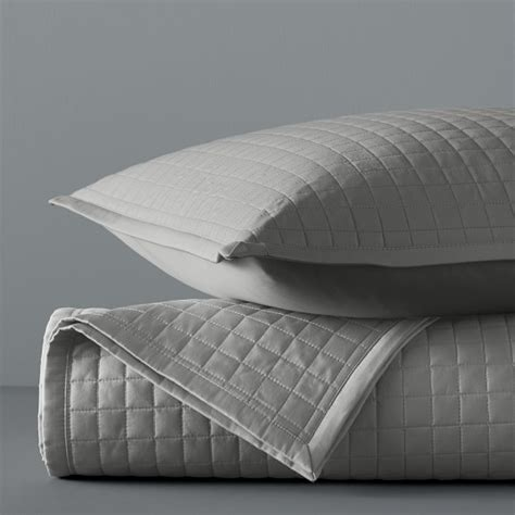 Sateen Coverlet by Box Stitch Sateen Coverlet Williams Sonoma