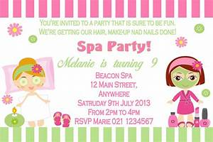 pamper party invitations theruntimecom With pamper party invite template