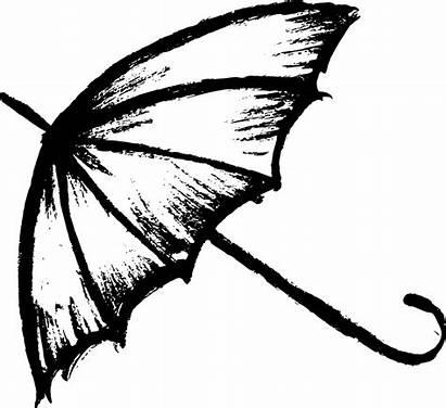 Drawing Umbrella Sketch Transparent Line Resolution Sketches