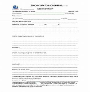 14 subcontractor agreement templates free sample With subcontracting contract template