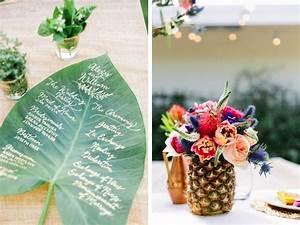 Deco Table Tropical : un mariage exotique tropical justine huette cr atrice de jolis moments ~ Teatrodelosmanantiales.com Idées de Décoration