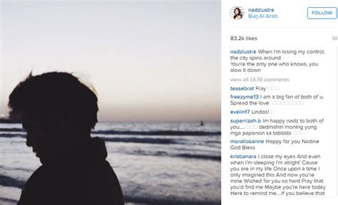 nadine lustre course nadine lustre s sweet message for james reid up daily