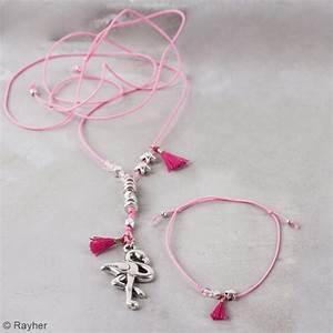 Bijoux Flamant Rose : kit bijou collier et bracelet vaia rayher flamant rose ~ Teatrodelosmanantiales.com Idées de Décoration