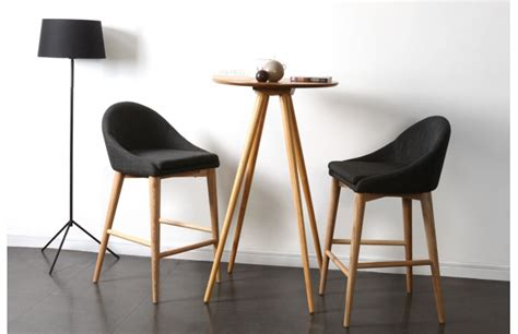 chaises de cuisine hautes chaise haute cuisine grise